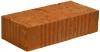 Кирпич строительный одинарный полнотелый М100, 250х120х65