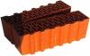 Кирпич керамический строительный одинарный полнотелый рифленый М-125 250x120x65