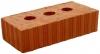 Кирпич керамический строительный одинарный с тремя тех. пустотами рифленый пластического формования М-150, 250х120х65