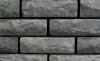 кирпич силикатный облицовочный одинарный рустированный угловой 225х95х65, черный