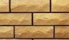 кирпич силикатный облицовочный полуторный рустированный угловой 225х950х88, жёлтый