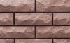 кирпич силикатный облицовочный полуторный рустированный угловой 225х95х88, коричневый